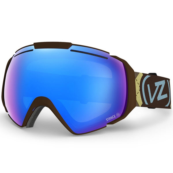 Von Zipper El Kabong Goggles Gnarr-Gyle Brown Sky Chrome 2014 Free Stance Socks